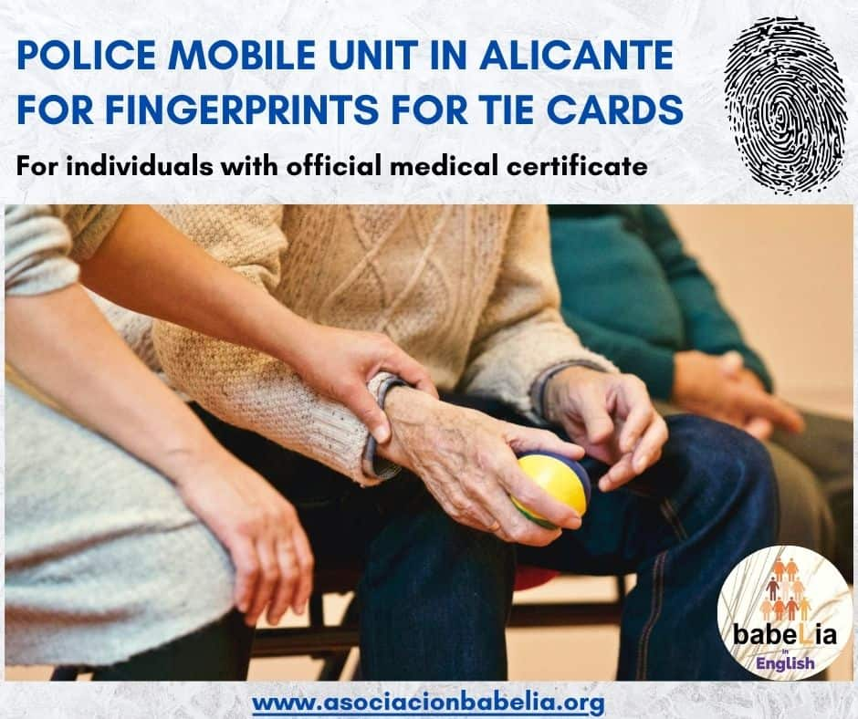 Police Mobile Unit for Fingerprints in Alicante
