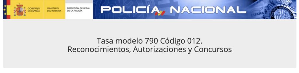 Tutorial cumplimentar tasa modelo 790 código 012 TIE Tarjeta Identidad de Extranjeros